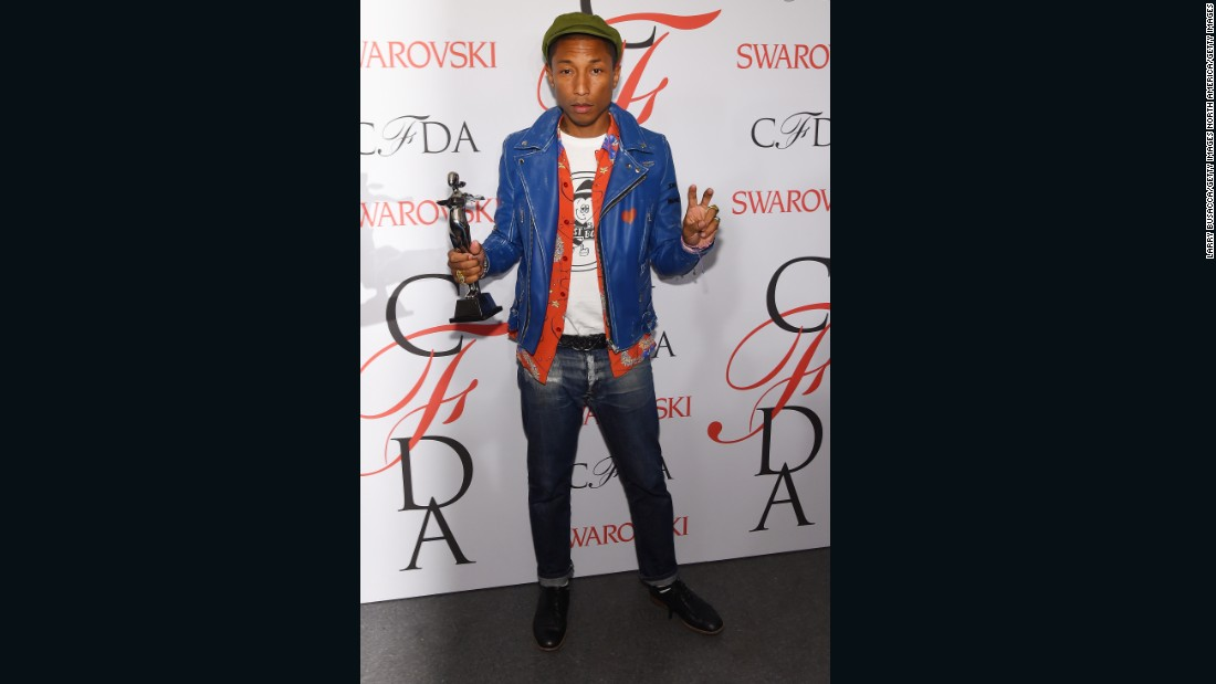 "Even before his ""Happy""<em> </em>days, Pharrell was known for his colorful sense of style. Last year, it landed him the <a href=""http://cfda.com/blog/pharrell-2015-fashion-icon"" target=""_blank"">CFDA Fashion Icon Award</a>."