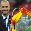 Guardiola Champions League trophy