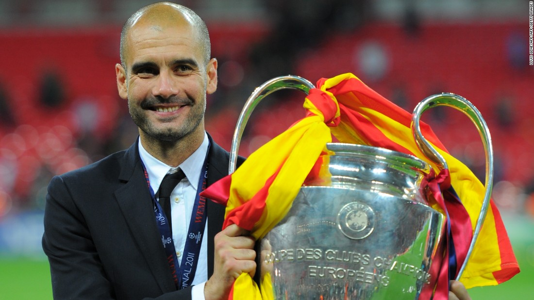 European glory did not elude Guardiola in his first coaching job, with Spanish giants Barcelona. As well as winning three La Liga titles he also won two Champions League crowns, in 2009 and 2011. In all, he won 14 major trophies in his four-year stint with the Catalan club.