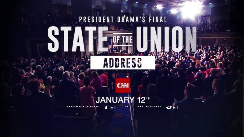 President Obama's final State of the Union Address. Coverage starts Tuesday night Starting at 7._00001315