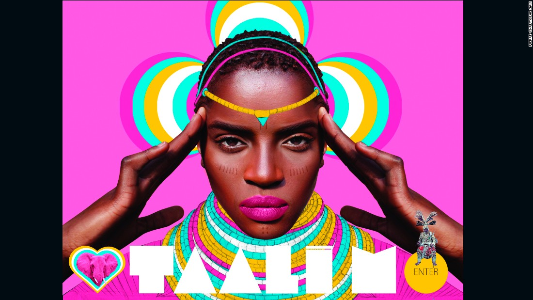 "The website for French-Congolese musician Taali M ""should be understood as an invitation to an ancient African kingdom"" according to Gam, the website's designer."