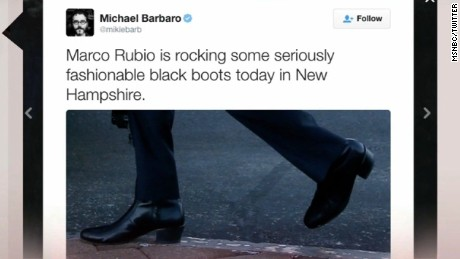 "Battle of the Booties waged by Presidential candidates against ""Marco Boot-io."" Jeanne Moos has the lowdown on higher heels."