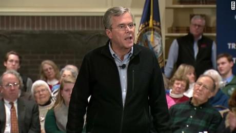 Jeb Bush Trump jerk question sot_00023829