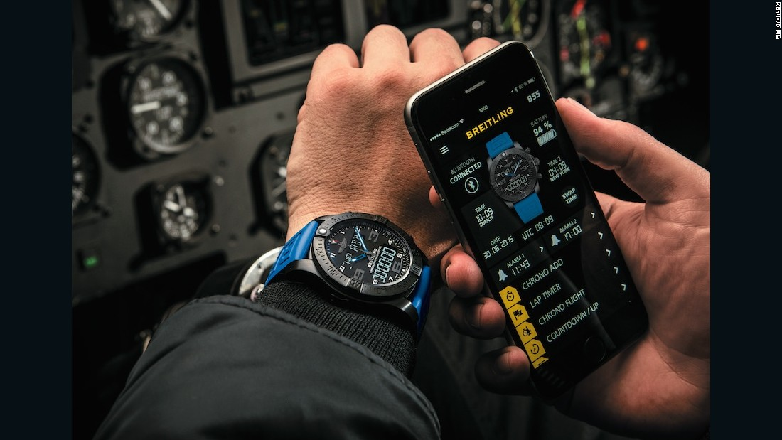 Breitling's B55 puts your smartphone at the service of the watch, rather than the other way round and is another in the trend toward connected Swiss fitness watches.