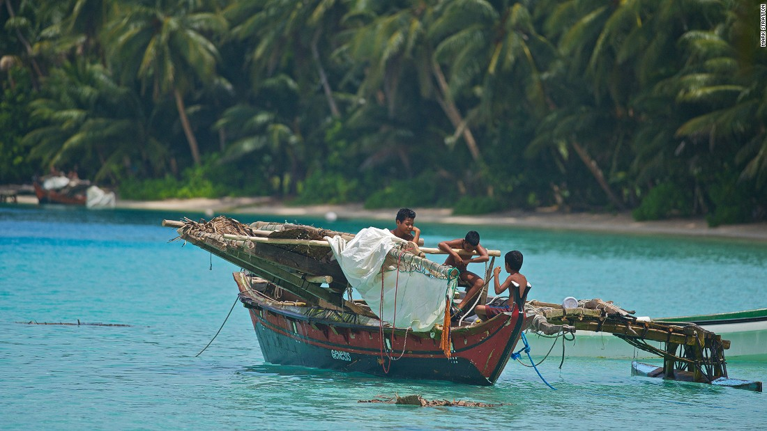 By the age of seven or eight, Lamotrek Atoll's boys will typically be at sea handling their own outrigger canoes and fishing.