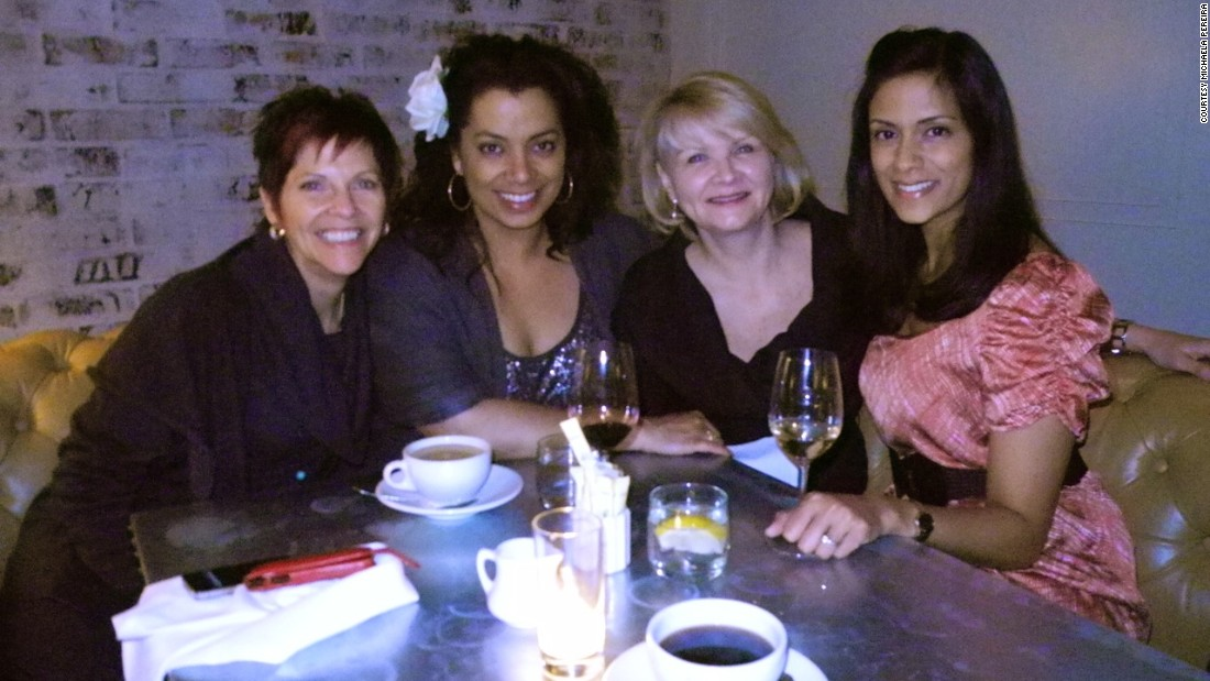 """Media Ladies Who Lunch"": The girls and I at lunch in Los Angeles in April 2011. The Alliance for Women in Media gave me an award, and my girls came to Los Angeles to help me celebrate."