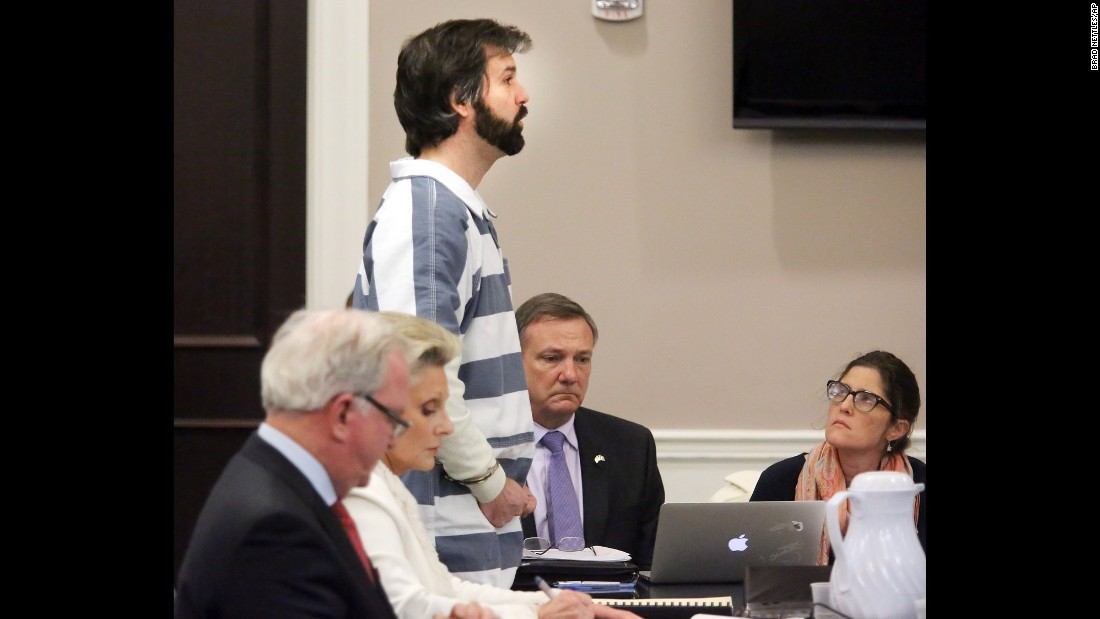 "Former police officer Michael Slager, who has been charged with murder in the shooting death of unarmed motorist Walter Scott, speaks at a hearing in Charleston, South Carolina, on Monday, January 4. <a href=""http://www.cnn.com/2016/01/04/us/south-carolina-michael-slager-bail/"" target=""_blank"">He was released from jail after posting bail,</a> which a judge set at $500,000. He will be held under house arrest until his trial."