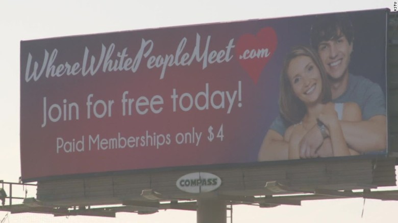 New dating website for white people only?
