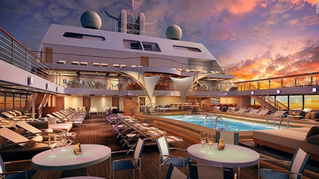 Carrying just 600 guests, this 12-level ship will have 300 opulent suites (each with a private veranda) and visits ports nestled in tight spots the big ships can't access. It begins sailing in December 2016, leaving port in Greece before making its way through the Middle East and Asia.