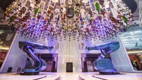 Quantum of the Seas with have its own Bionic Bar, featuring robot bartenders.