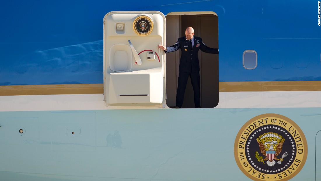"The door to Air Force One is opened Sunday, January 3, as President Barack Obama and his family return to the mainland following a <a href=""http://www.cnn.com/2015/12/28/politics/gallery/obama-hawaii-christmas-vacation-2015/index.html"" target=""_blank"">vacation in Hawaii</a>."