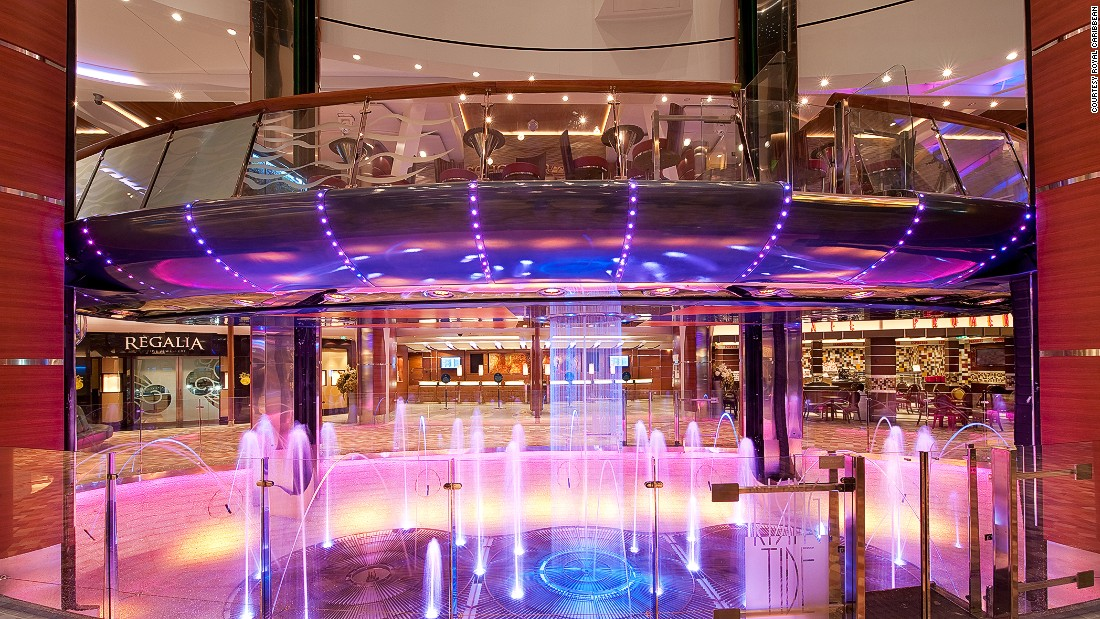 Royal Caribbean has made it OK to get drunk in an elevator. The Rising Tide Bar, available on Oasis of the Seas and Allure of the Seas, is a 32-seat cocktail joint that moves between floors.