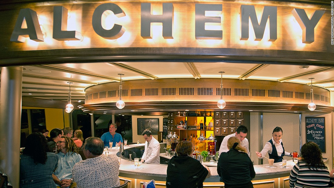"Alchemy Bar isn't your average watering hole. Rather, it's a vintage-themed cocktail ""pharmacy."" Mixologists (wearing white lab coats) don't serve drinks, they ""prescribe"" them."