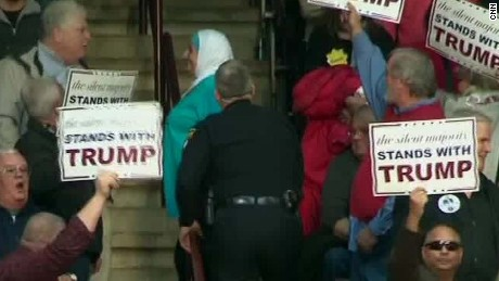 Muslim woman gets kicked out of Trump rally Zeleny AC _00005913