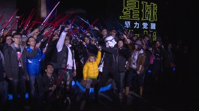 'Star Wars' opens in China