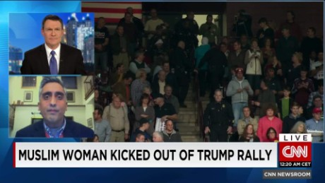 exp Muslim Woman protests Trump at rally after he likens Syrians to ISIS _00215024.jpg