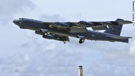 U.S. Bomber flies over South Korea
