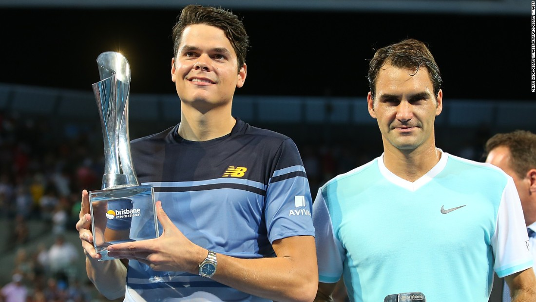 Raonic was avenging defeat to Federer in last year's final in Brisbane.