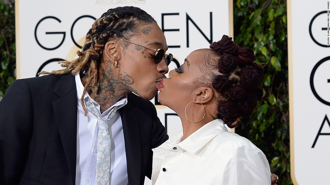 Wiz Khalifa and his mother, Peachie Wimbush