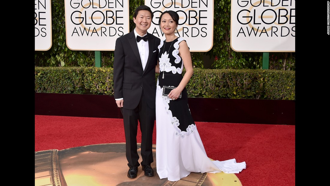 Ken Jeong and his wife, Tran