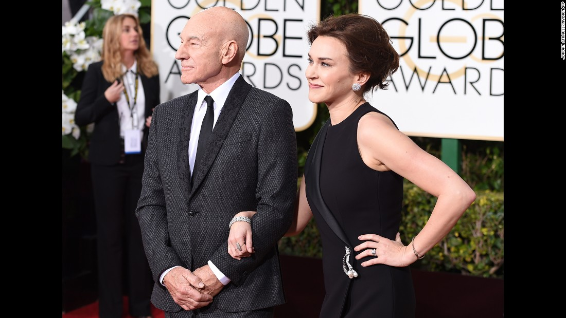 Patrick Stewart and his wife, Sunny Ozell