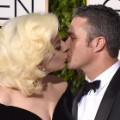 golden globes red carpet 2016 - Lady Gaga and Taylor Kinney