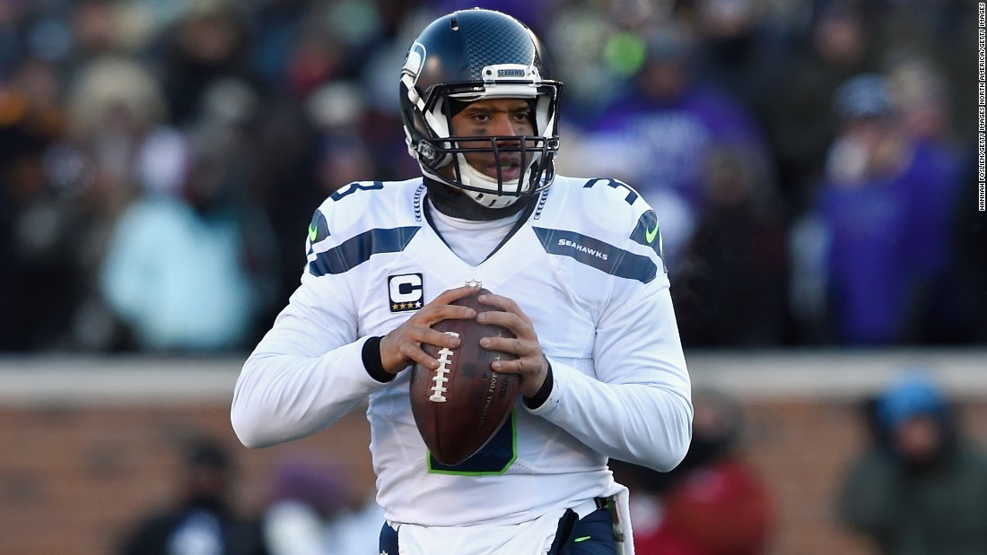It's ironic that Wilson threw the most famous interception in NFL history -- the last-minute gaff which cost the Seattle Seahawks the 2015 Super Bowl -- because the 27-year-old three-time Pro Bowler plays virtually error-free. Though standing at just 5 foot 11 inches, Wilson was the top-rated NFL quarterback in 2015, and is second all-time, trailing only Aaron Rodgers.