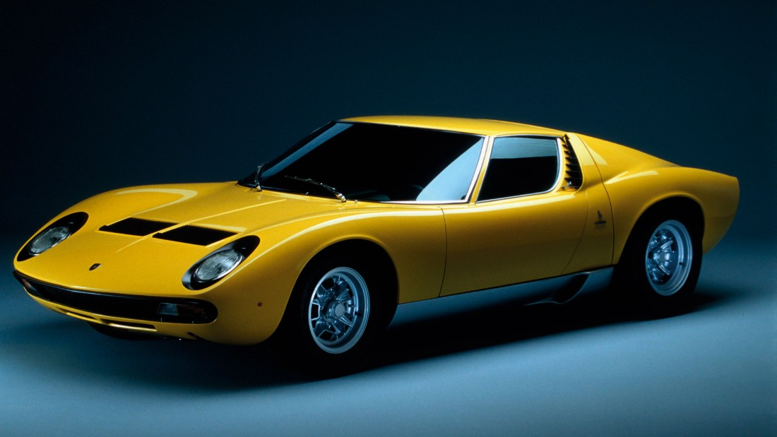 Lamborghini's iconic Miura Roadster is often acknowledged as the world's first supercar. The Miura was first revealed at the Geneva Motor Show in 1966, and the original model had a record-shattering top speed of 280 kph (174 mph) and could do 0-100 kph (0-60 mph) in just 6.7 seconds.
