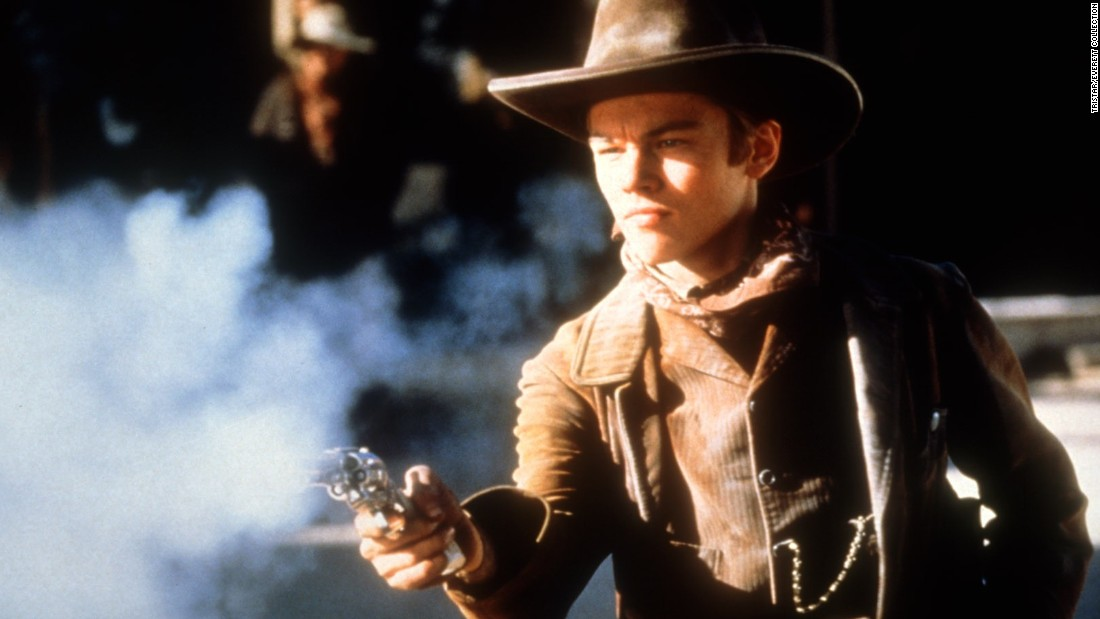 "DiCaprio donned a cowboy hat and spurs for the 1995 Western ""The Quick and the Dead."""