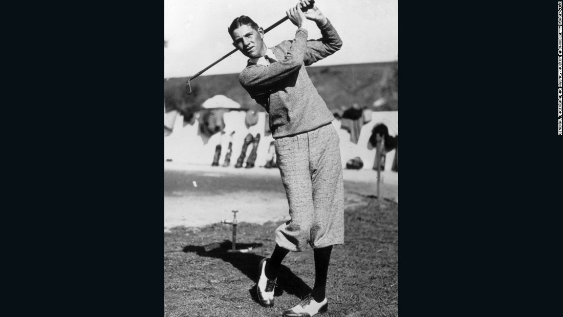 Horton Smith, pictured circa 1925, won 10 tournaments before he turned 22, when the PGA Tour was in its infancy and golf was a mixture of professional and amateur competitions.
