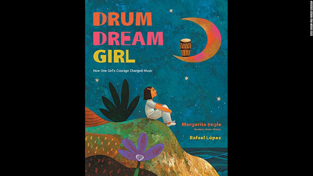 "<strong>Pura Belpré (Illustrator) Award </strong>honoring a Latino writer and illustrator whose children's books best portray, affirm and celebrate the Latino cultural experience: ""The Drum Dream Girl,"" illustrated by Rafael López and written by Margarita Engle."
