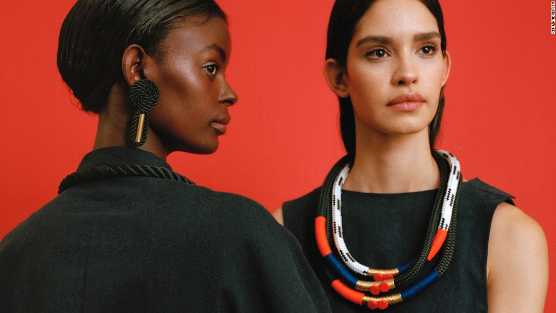Pichulik says that her accessories require an extensive network of suppliers. Beads, symbols and precious stones from across the continent (and further afield) are sourced from a variety of traders, who have gotten to know her well. (pictured: SS16 'Nolita' Collection)