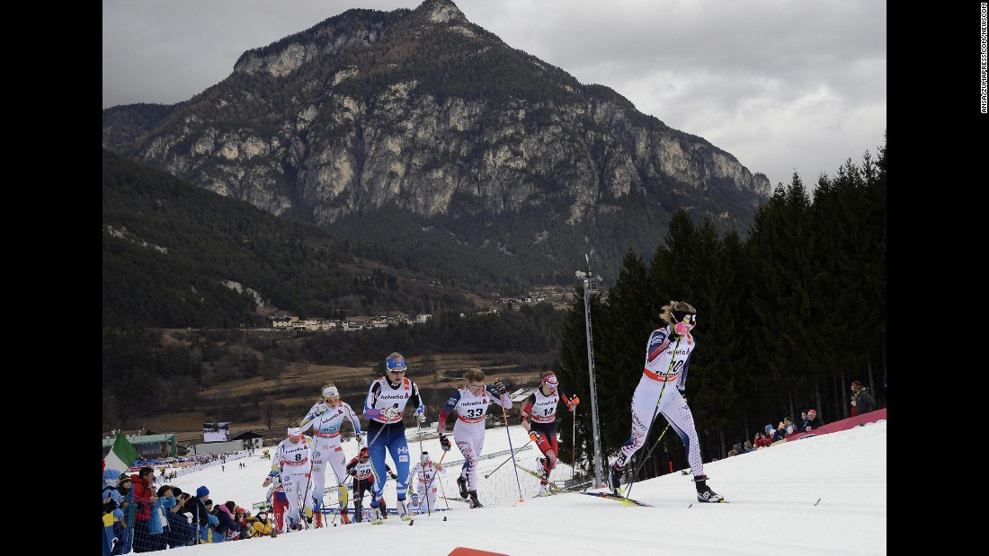 "Cross-country skiers race during the Tour de Ski event Saturday, January 9, in Val di Fiemme, Italy. <a href=""http://www.cnn.com/2016/01/05/sport/gallery/what-a-shot-0104/index.html"" target=""_blank"">See 31 amazing sports photos from last week</a>"