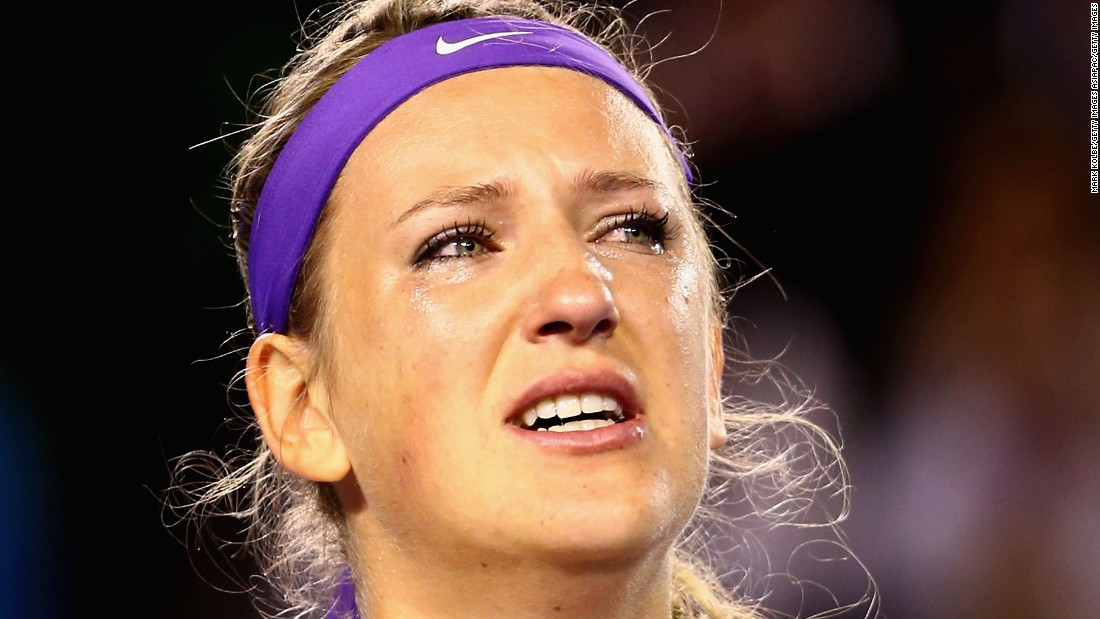 Azarenka was in tears after winning the Australian Open again in 2013, defeating China's Li Na.