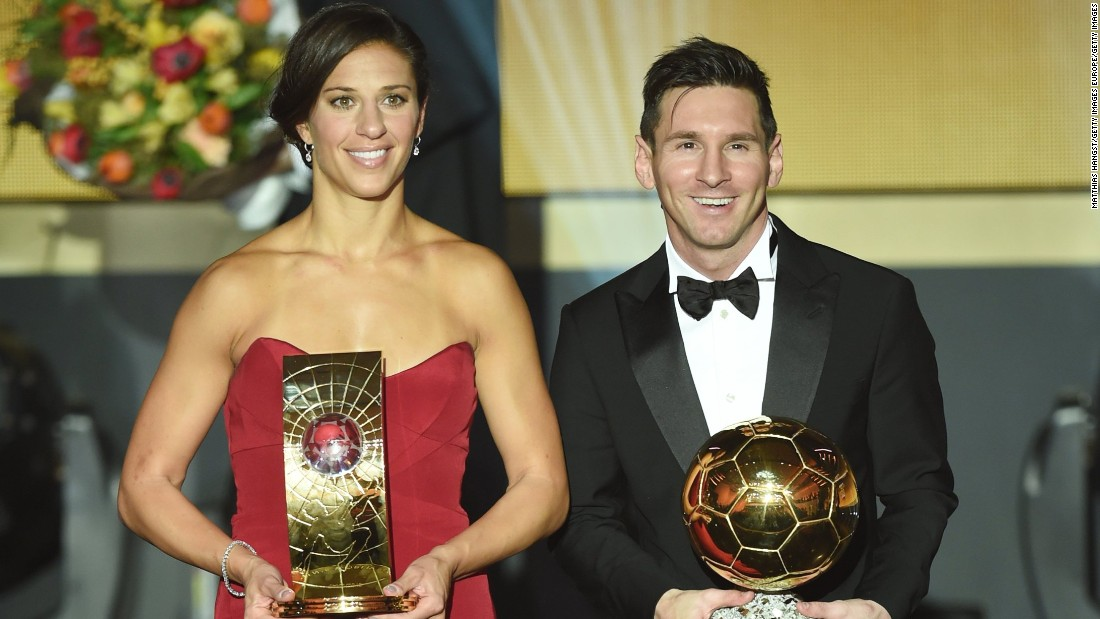 USWNT star Carli Lloyd shared the stage with superstar Lionel Messi as they were named the best players in the world for 2015 at the FIFA Ballon d'Or Gala in Zurich, Switzerland.