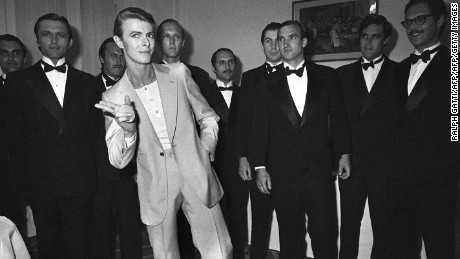 The most stylish man in the room -- that was David Bowie
