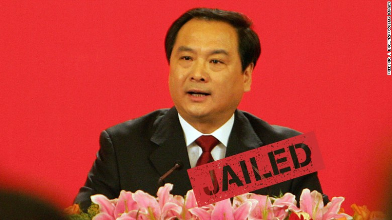 "A Chinese court in the northern city of Tianjin sentenced a former vice minister of public security to 15 years in prison for corruption, state media reported Tuesday, January 12. Li Dongsheng, 60, was charged with taking almost 22 million yuan ($3.3 million) in bribes from 2007 to 2013. He was a protégé of disgraced former domestic security czar Zhou Yongkang, who was <a href=""http://cnn.com/2015/06/11/asia/china-zhou-yongkang-sentence/"">sentenced to life in prison in June 2015</a> for corruption offenses."