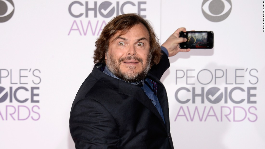 Actor Jack Black takes a photo at the People's Choice Awards on Wednesday, January 6.