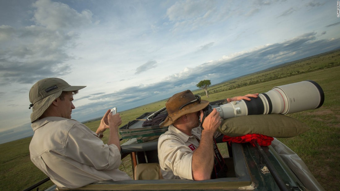 Andre Van Kets (left) and Carel Verhoef are the creators of the website HerdTracker, which the Ministry of Tourism has partnered with for this initiative. Last year HerdTracker captured the great wildebeest migration.