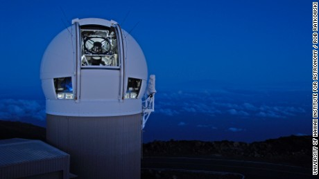 The Panoramic Survey Telescope & Rapid Response System (Pan-STARRS) 1 telescope on Maui's Mount Haleakala, Hawaii.