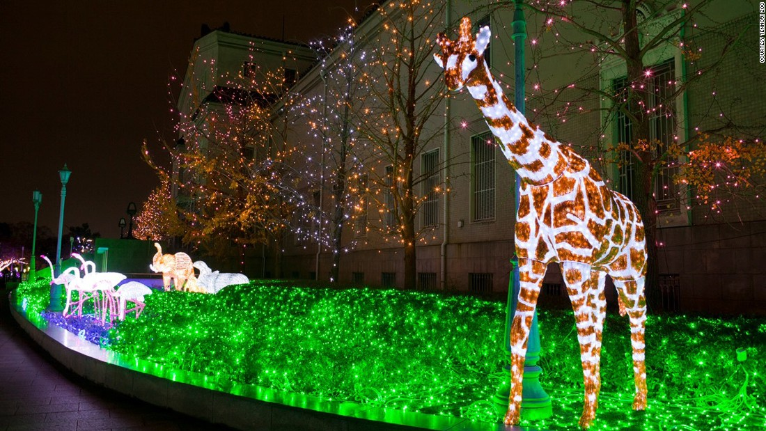 "The Abeno Tennoji Illuminage's theme for this winter is ""illumination zoo,"" housing glowing animals from panda bears to giraffes."