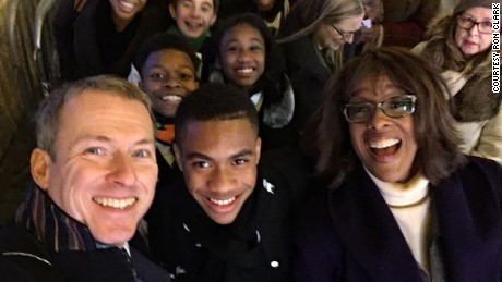 Ron Clark and his students visit Gayle King.