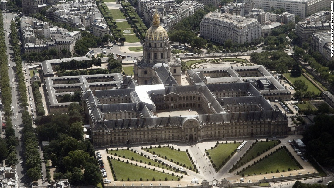 The gleaming dome at Paris' Les Invalides. The historic site is set to host a Formula E race in April.