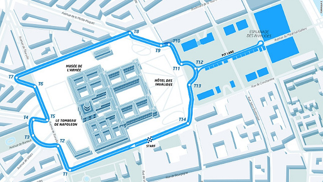 The layout of the ePrix circuit around the famous landmark was announced by organizers in January.