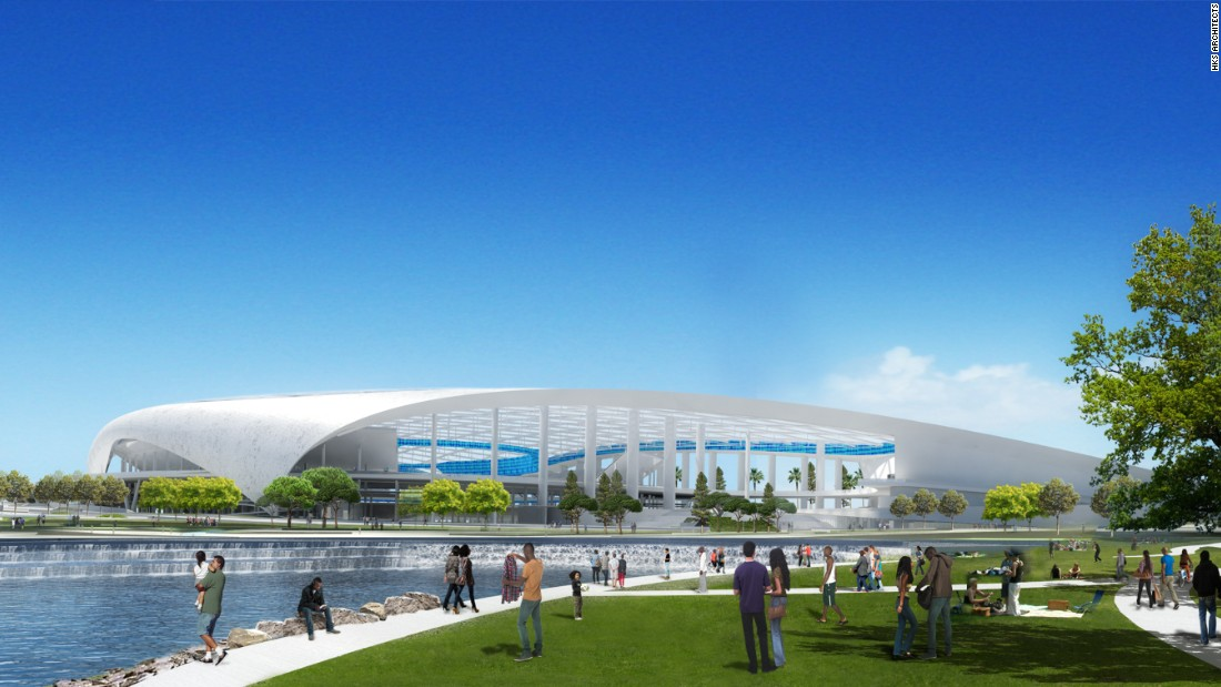 "An 80,000-seat stadium for the Los Angeles Rams will be just the ""cornerstone"" of a new 300 acre entertainment district dubbed ""NFL Disney World"" by owners. Take a look..."