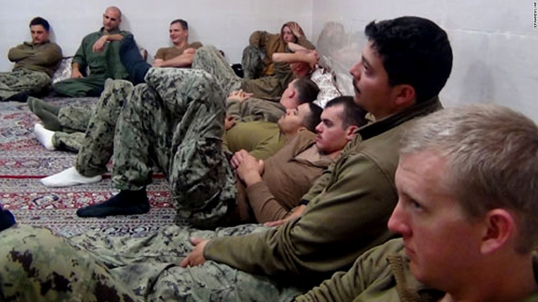 "Ten U.S. Navy sailors are detained by Iran in this photo released Wednesday, January 13, by the Iranian Revolutionary Guard. Authorities <a href=""http://www.cnn.com/2016/01/13/politics/iran-us-sailors/index.html"" target=""_blank"">let the sailors go free</a> after determining that their vessels' entry into Iranian waters was unintentional."