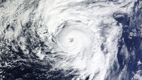 Hurricane Alex on January 14, 2016. It's the first Atlantic storm named in January since 1978 and the first hurricane to form that month since 1938. (NASA Worldview)