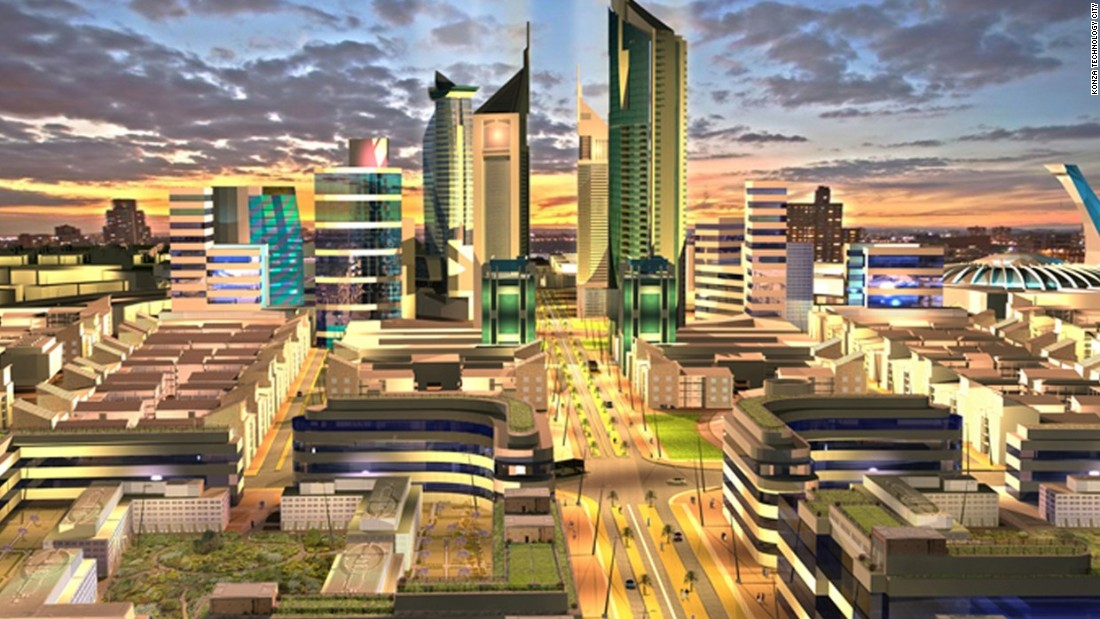 "The much-hyped <a href=""http://www.konzacity.go.ke/"" target=""_blank"">Konza Tech City</a> - or ""Silicon Savannah"" - is hoped to be a world-class hub of entrepreneurship.<br /><br />The $15 billion site, set in 5,000 acres to the south of Nairobi, will accommodate almost 200,000 people, complete with universities, research facilities, and IT centers."