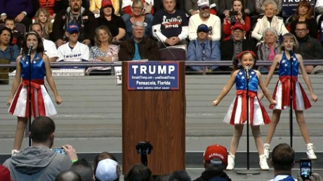 'USA Freedom Kids' dancing girl trio's manager threatens to sue Trump
