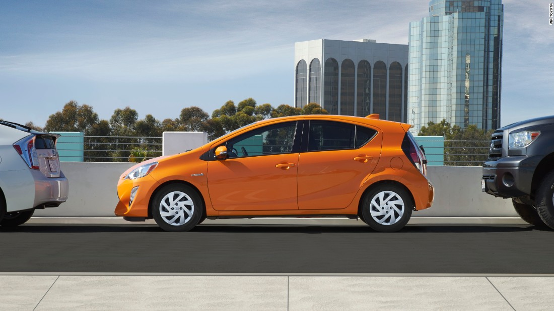 "She loves the Habanero color available for the Toyota Prius C: ""I really fought hard for that. That was five years ago, and it was a huge thing, to receive approval to use this creamy orange color on this cute little car. But now, with the 2016 Prius C, the color has evolved into an even brighter shiny orange we call Tangerine Splash Pearl.<br />"